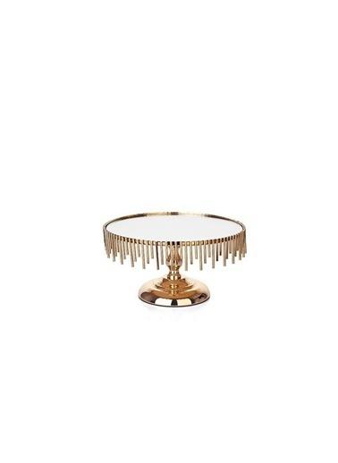 Acar Altın Çubuk Ayaklı Sunumluk Dekor 26Cm Renkli